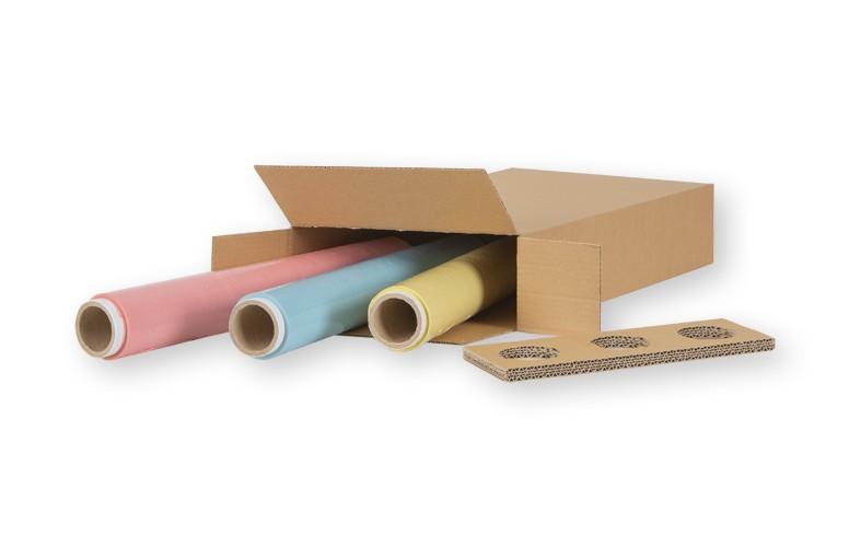 kolorowa folia stretch trzy rolki w kartoniku