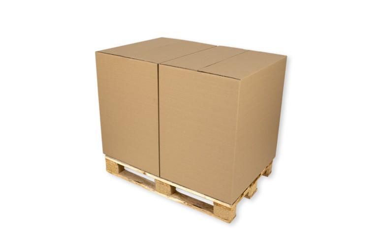 karton paletowy dwa kartony na palecie