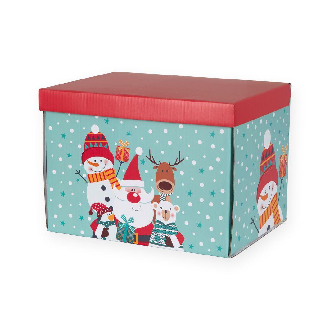 Opakowania świąteczne pudełko z pokrywką Mikołaj i jego Świta