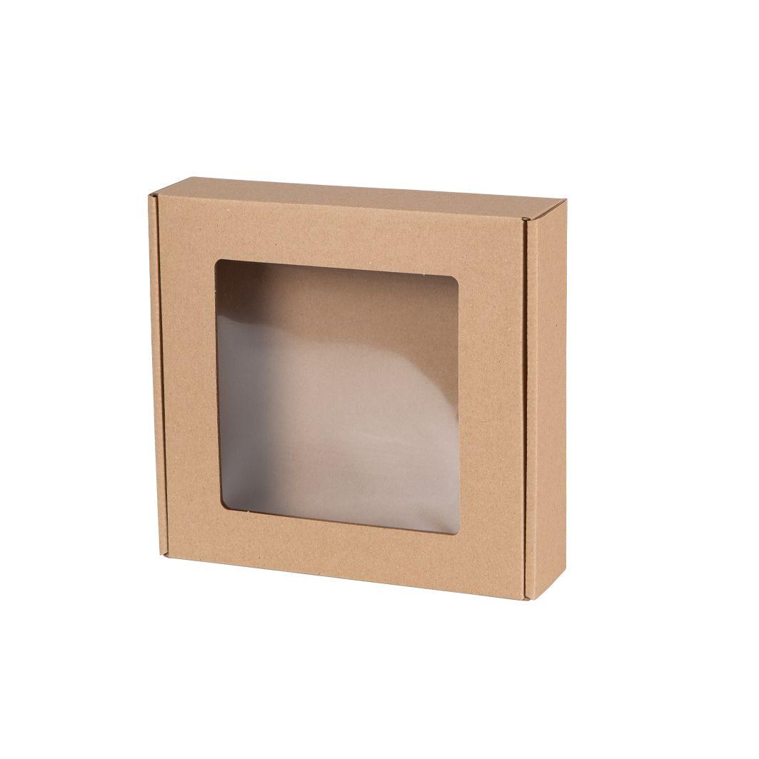 Pudełka fasonowe z okienkiem 200x200x50