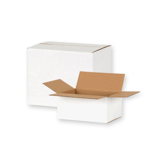 Kartony transportowe klapowe białe
