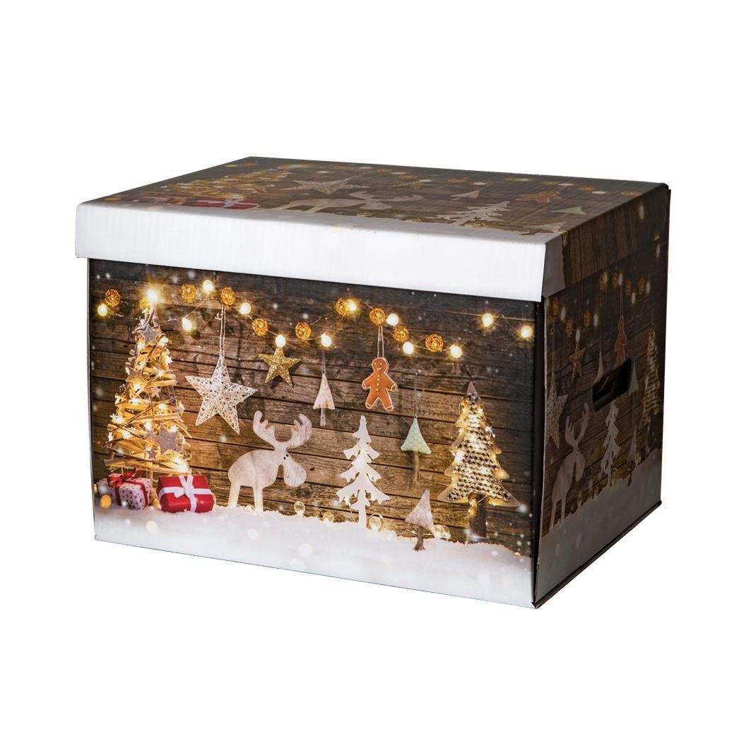 Karton świąteczny z nadrukiem DREWNIANE DEKORACJE
