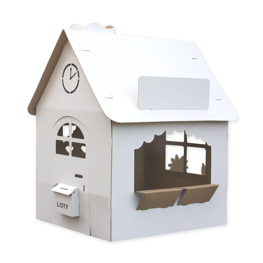 Tekturowy domek dla dzieci
