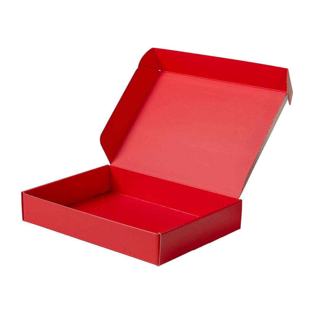 Pudełko fasonowe na prezent czerwono-czerwone