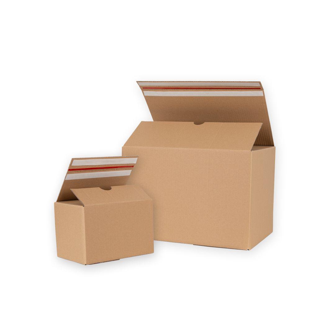 Kartony z dnem automatycznym i paskiem klejowym