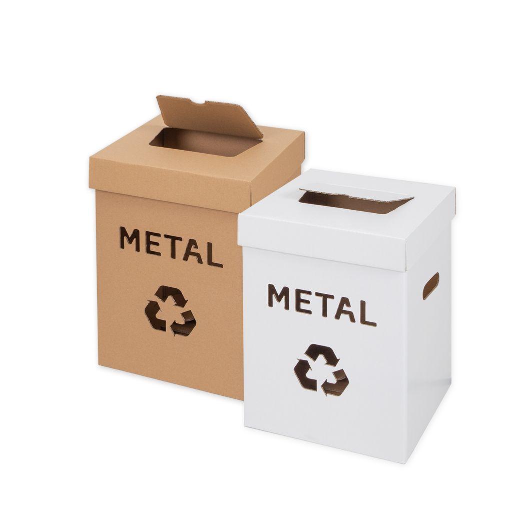 Kosze na śmieci z kartonu 36 litrów Metal