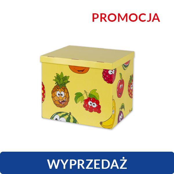 Pudełko kartonowe ozdobne - wesołe owoce