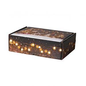 pudelko fasonowe swiateczne z nadrukiem drewniane dekoracje