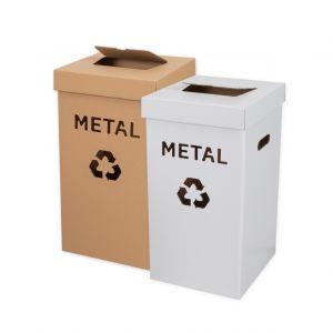 kosz duzy eko do segregacji  z napisem metal