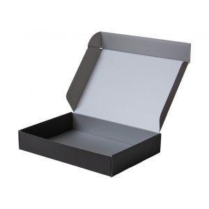 karton fasonowy ozdobny na prezent czarny srebrny