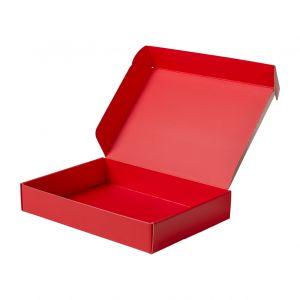 opakowanie fasonowe ozdobne na prezent czerwone na bizuterie ubrania