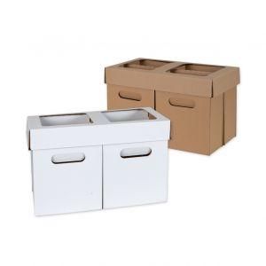 zestawy koszy podzlewowych domowych do segregacji smieci biale i szare  kosze 10 litrowe i 5 litrowe