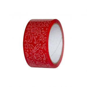 tasma pakowa czerwona swiateczna