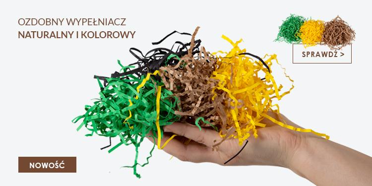 ekologiczny papierowy wypelniacz ozdobny