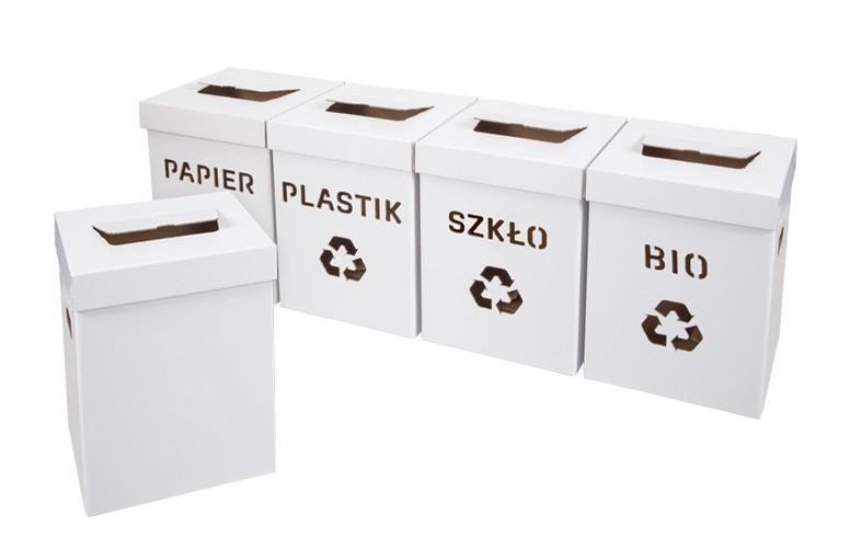 biodegradowalne kartony ekologiczne do sortowania smieci